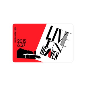 LIVE IN HEAVEN / ICカードステッカー