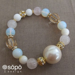 【再販!】032. power stone jewelry bracelet -Pearl-