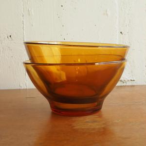 Duralexのマロンカラーのガラスボウル