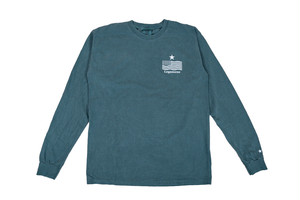 "NEW【""USA"" vintage long sleeve】/ green"