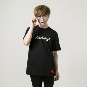 Cursive Owl T-shirt Black