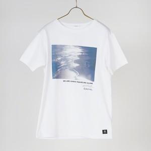 """S/S TEE 01 """"BEACH"""" (WHITE) / GAVIAL"""