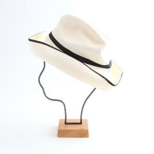 mature ha./BOXED HAT 101SW white×black