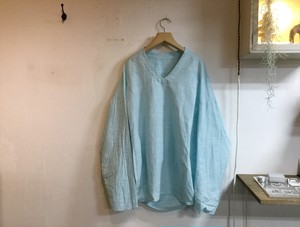"brusco.k""U neck turtle smock turquoise"""