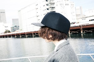 B.B.B cap/black×gray