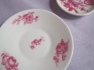 【w様専用ページ】Porcelaine de Limoges  Veritable  アンティークリモージュ 花柄小皿 B