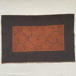 泥染めカフェマット  20x32cm-5 シピボ族の泥染め 天然染め 先住民族の工芸 プレイスマット