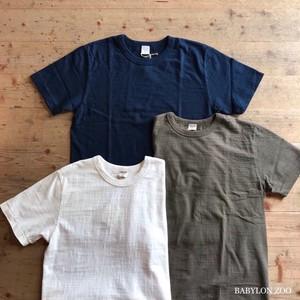 《ユニセックス》PATCHIIの落ち綿ムラ糸 吊り天竺半袖Tシャツ