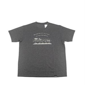 """Men's Tシャツ """"Running"""" (グレー)"""