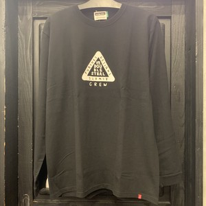 DOUBLE STEAL : TRIANGLE L/S TEE  /  BLACK  Lサイズ