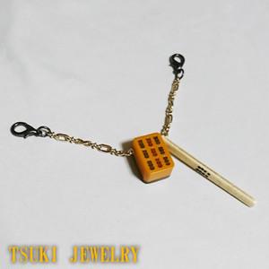 麻雀牌羽織紐【TSUKI JEWELRY】