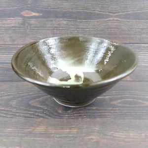 小鹿田焼 6寸 どんぶり鉢 刷毛引き 小袋定雄窯