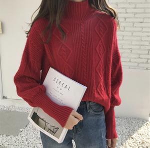 【お取り寄せ商品】タートルネックツイストセーター 9541