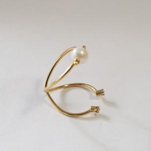 Beatriz Palacios/ Infinity Double Ring PEARL