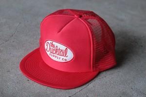 "DUCKTAIL CLOTHING TRUCKER CAP ""TRUCKIN'"" RED ダックテイル クロージング メッシュキャップ"