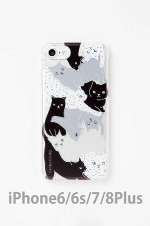 【iPhone6/6s/7/8Plus専用】アクリルケース CATS MONOTONE