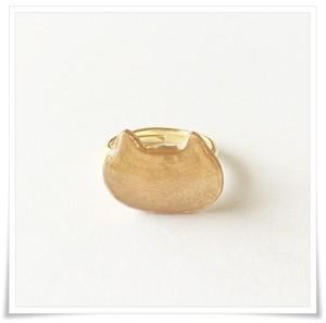 シンプルねこリング(ゴールドカラー)