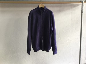 "crepuscule""Moss Stitch zip cardigan purple"""