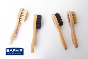 サフィール|SAPHIR|ハンドル付きブラシ4本セット|豚毛ブラシ|スエードブラシ