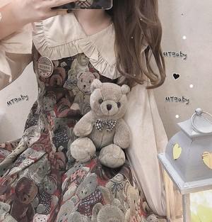 【ワンピース】韓国系レトロスウィートギャザー飾りキャミソールAラインサロペット