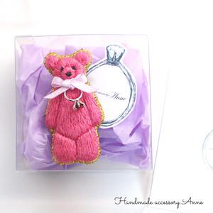 anniversary bear(magenta)
