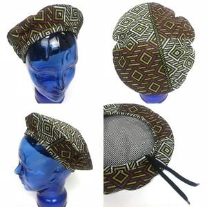 アフリカンプリントベレー帽 03
