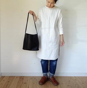 シンプルバッグ(小)黒×ブルーグレー 78cm