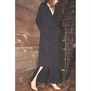 【CINOH】 Wide Neck Long Coat