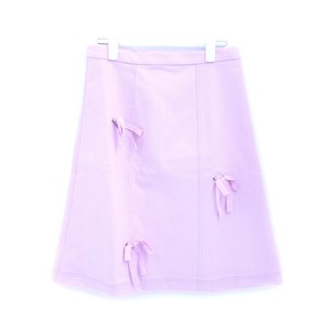 【SOMEWHERE NOWHERE】BABY PINK SLUB DENIM A-LINE SKIRT