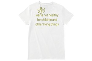 war is not healthy(戦争は不健康) Vネックカットソー 若草 ★期間限定受注製作品 ~3月31日(日)まで