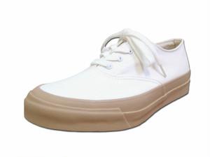 【レディース】 Asahi アサヒシューズ DECK デッキシューズ L011 ホワイト/ベージュ キャンバス Shoes MadeinJAPAN 日本製 福岡 久留米