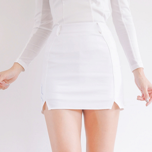 Double slit skirt (White)