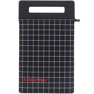 A-COLD-WALL* / OVERLOCKED TABLET POUCH WITH GRID PRINT
