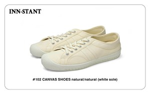 #102 CANVAS SHOES natural/natural (white sole) INN-STANT インスタント 【消費税込・送料無料】