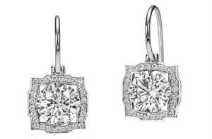 モアサナイト ダイヤモンド 1カラット スイング ピアス