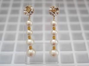 Cotton Pearls -CHIC-【14kgfピアス】イヤリングご希望の方は備考欄へ