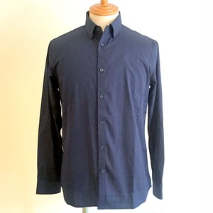 Entrelac knitting Print Shirts Navy