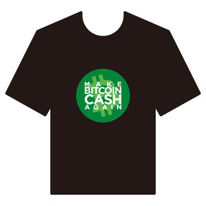 BitcoinCashTシャツ シリーズC 黒 COFA(C4-004)
