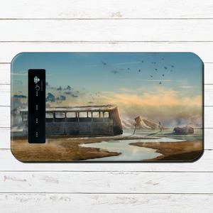 #080-052 モバイルバッテリー おしゃれ ファンタジー 風景 ノスタルジー iphone スマホ 充電器 タイトル:古の街道 パターン2 作:星宮あき
