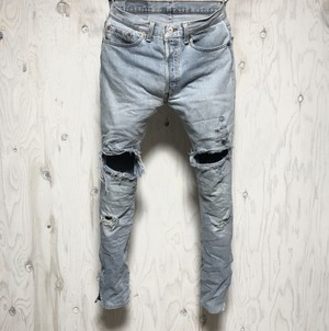 Levi's 501 crash&riri zip custom w31