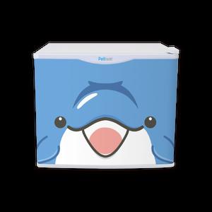 水分補給専用冷蔵庫 17リットル フリフリッジZOO イルカ dolphin 右開き 左開き ペルチェ冷蔵庫 1ドア Peltism(ペルチィズム)