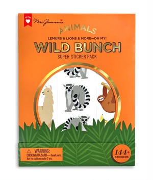 ANIMALS WILD BUNCH SUPER STICKER PACK