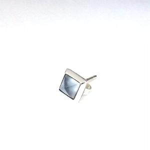 ムーンストーン スタッズ シルバーピアス OZX029