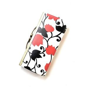 【秀和 x pink india】北欧デザイン 牛革がま口復刻長財布 | matthew red