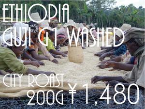 エチオピア グジ G1 ウォッシュド City Roast (200g)