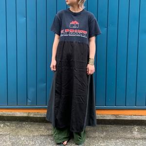 Used print Tee dress black / B