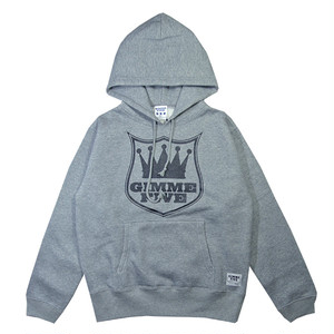 GIMME FIVE ORIGINAL LOGO HOOD SWEAT(H.GREY)