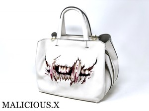 cat fang shoulder & handbag /blood(white)