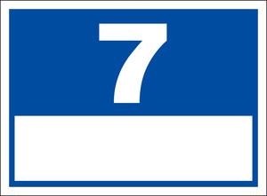 シンプル看板「番号票7(白窓付)」屋外可・送料無料