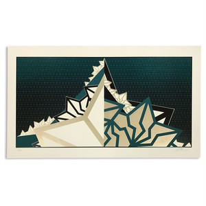 "BAKIBAKI screen print ""Green Mountain"""